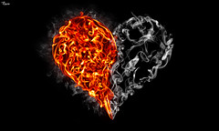 Where there's smoke, there's fire. They are soulmates (reXraXon) Tags: art love photoshop fire graphicdesign artwork smoke digitalart manipulation flame fireart smokeart raxon mygearandme
