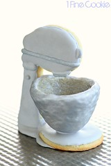 Cute 3D Stand Mixer Cookies Recipe by 1 Fine Cookie (1 Fine Cookie) Tags: birthday party cooking cookies dessert baking milk 3d cookie pastel gift mothersday decorated sugarcookie royalicing glazeicing