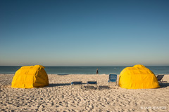 Two Cabanas (lpvisuals.com) Tags: ocean sea sky usa beach water tampa unitedstates florida shoreline oceanside fl stpete d800 stpetebeach stpetersburgbeach
