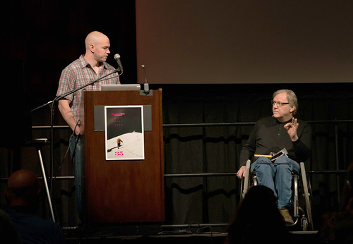 Tim DeChristopher & John Hockenberry - Moving Mountains Symposium - Photo Credit Gus Gusciora