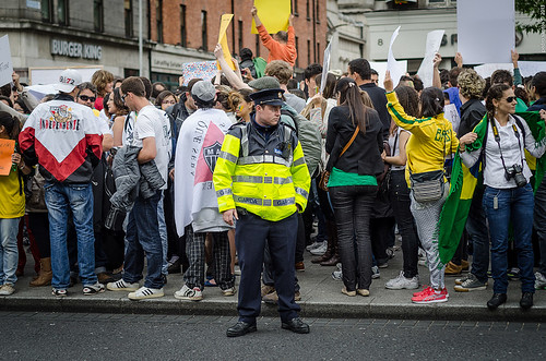 Brazilians in Dublin are suporting you! #changebrazil
