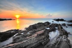 Sunrise, Tanjung Jara (Nadly Aizat) Tags: morning sea beach weather sunrise fishing waves sunny coastal malaysia hdr terengganu waterscape photomatix tanjungjara eastcoastmalaysia