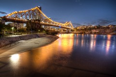 Story Bridge, Brisbane (Stelex) Tags: longexposure bridge night river lights dusk australia brisbane queensland storybridge