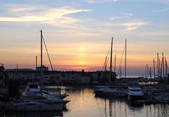 Sunrise (anna.coluthe) Tags: morning sea sky sun mer port sunrise landscape boats soleil bateaux ciel paysage matin mditerrane portgrimaud leverdusoleil