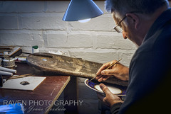 Gilder at Spode - [EXPLORED] (Raven Photography by Jenna Goodwin) Tags: light portrait art heritage history photography paint environmental craft stokeontrent pottery staffordshire stoke potteries skill gilding gilder