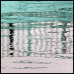 a bridge too far (foto.phrend) Tags: abstract reflection water square turquoise leeds waterart 500d