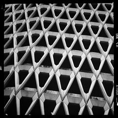 Welbeck Street Car Park (firstnameunknown) Tags: london geometric monochrome architecture concrete blackwhite carpark brutalist multistorey marylebone welbeckstreet iphoneography hipstamatic helgavikinglens aodlxfilm