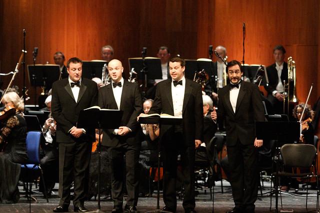 Jeremy Budd, Simon Gfeller, David Butt Philip and Pablo Bemsch as Servants in Capriccio © ROH/Catherine Ashmore, 2013