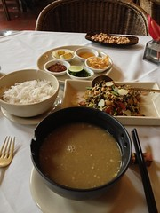 Laphet Thok and Mohinga at Monsoon Restaurant (HeyItsWilliam) Tags: travel food cuisine asia southeastasia yangon burma myanmar burmese rangoon mohinga thok laphet