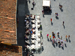 People Watching (tubblesnap) Tags: from above santa people flower st photography florence high cafe maria basilica mary watching aerial il di firenze duomo fiore