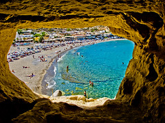 Caves in (Matala), Crete (DonauPhilipp) Tags: kreta crete griechenland