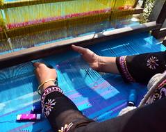weaving (Ginas Pics) Tags: nepal craft holy sacred getty weaving ikat manufacturing ginaspics peopleworking 201308ap reginasiebrecht