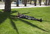 (Caitlin H. Faw) Tags: trees light shadow portrait man color grass june canon landscape eos israel nap jerusalem relaxing down palm 5d napping resting lying yerushalayim markiii 2013 caitlinfaw caitlinfawphotography