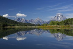 10th September 2013 (EmmaDurnford) Tags: park mountain mountains fall reflections river still colours view grand scene national glaciers vista waters wyoming owen middle teton moran autumnal
