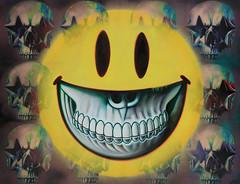 Ron English - Stencil Starskull Grin