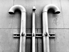 pipes (eb78) Tags: sf sanfrancisco california ca blackandwhite bw monochrome pipes soma grayscale greyscale iphone iphoneography