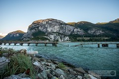 2013-09-26 Squamish The Chief-4 (Michael Schmidt Photography Vancouver) Tags: ocean blue trees sunset sky white mountain green water grass grey pier rocks view logs clear wharf granite monolith thechief collapsed stawamus seatoskyhighway squamishbc granitedome michaelschmidtphotographyvancouverbc wwwmichaelschmidtphotographycom httpwwwflickrcomphotosdmichaelschmidtsets