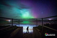 Aurora Hunter (Colin Cameron ~ Photography ~) Tags: lightpainting green beach colours bright fisheye aurora glowing northernlights isleoflewis milkyway auroraborialis lightjunkies canon5dmark3 colincameronphotography
