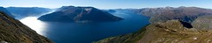 Hardangerfjorden panorama (Algot Foto) Tags: autumn panorama sun fall norway norge view clear granvin hardangerfjorden sørfjorden westernnorway oksen