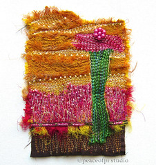 Growth (JoMo (peaceofpi)) Tags: canada abstract sewing silk textile series needlefelting fiberart beaded artquilt embellisher freemotion peaceofpi tafalist