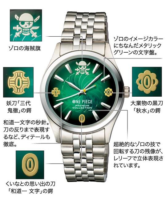 祝索隆生日快樂!「劍豪的記憶」手錶限量預購開始!