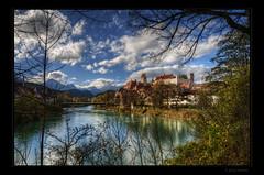 Fssen/Lech (Kemoauc) Tags: blue white river bayern bavaria nikon blau weiss jrg topaz lech fssen photomatix d300s kemoauc sentko