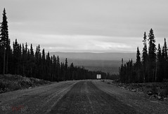 Happy Valley - Goose Bay to Cartwright (WhiteFlowersFade) Tags: voyage road travel blackandwhite bw canada forest landscape nikon labrador noiretblanc north roadtrip route paysage nord forts d7k d7000 mealymountains