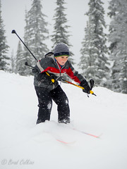 Nordic skiing boy (Micro43) Tags: winter lake snow playing ski sports kids outdoors skiing child olympus downhill crosscountry nordic omd sovereign em5