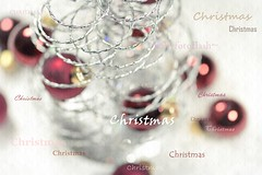 too soon for chirstmas (Frau Holle2011) Tags: christmas red tree glitter silver weihnachten shiny bright decoration creative bauble christmasball feiertag dekoration kugeln kreativ