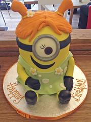 Girl Minion Cake