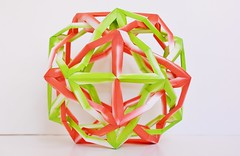 TIWI v1.5 Two Intersecting Wrinkled Icosahedra (Byriah Loper) (Byriah Loper) Tags: paper origami modular polygon paperfolding modularorigami byriahloper