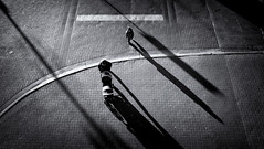 A little man often casts a long shadow (. Jianwei .) Tags: street city morning light shadow urban vancouver kid mood pavement geometry walk candid sony streetlife jianwei  kemily