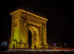 Arc De Triomphe Bucharest (cipilicacip) Tags: light paris night de boulevard arc triomphe bucharest bucuresti bulevard prezan