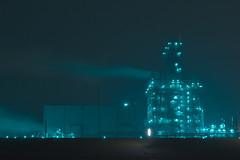 Industry at night (HDR) (Martijn Nijenhuis) Tags: haven green industry night port dark lights nikon groen nacht industrie martijn hdr nijenhuis eemshaven d90 afsnikkor70200mmf28gedvrii