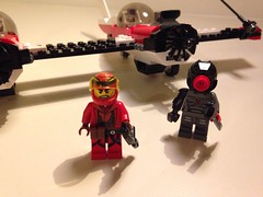 Red twin (Westcoastzombie) Tags: brick art soldier army robot marine war ship lego tech space military small think bricks battle mini suit walker stats pirate weapon micro legos future scifi warrior block fi custom build figures mechwarrior futuristic sci weapons mecha bot mech battletech moc minifigures spacepirate brickarms