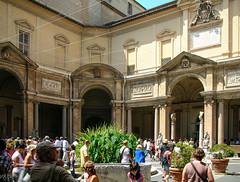 Cortile Octogonale (Tiigra) Tags: 2007 italy rome vatican architecture carving column garden interior plant lazio arch