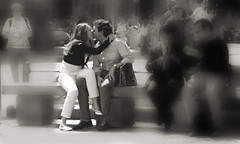 il mondo l'abbiam chiuso fuori (emilype) Tags: people woman love couple body bodylanguage tourists donne attimi tristezza panchine bnvitadistrada