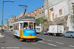 Calçada da Ajuda (ernstkers) Tags: streetcar tram tramvia tranvia trolley carris ccfl lissabon lisboa lisbon lisbonne strasenbahn eléctrico 566 ccfl566 bonde spårvagn