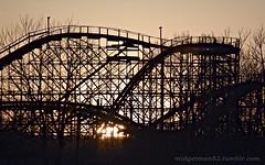 Twisted Twins (Midgetman82) Tags: sunset louisville rollercoaster louisvillekentucky kentuckykingdom