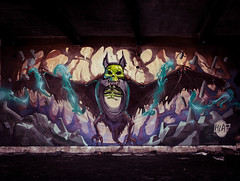 We can't stop here. This is bat country! (Fat Heat .hu) Tags: wall graffiti bat cave 2014 fatheat