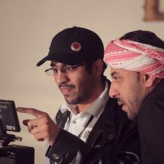 المخرج #طارق_الرويلي مع الممثل فرحان الضميان (Five Colors) Tags: tareq alrowaili
