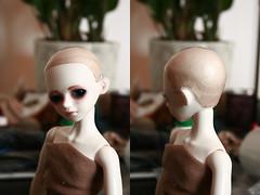 Wig process 3 (Zere Lill) Tags: fur kid lemon doll glue wig bjd process luts delf keta {vision}:{people}=099 {vision}:{face}=099