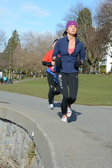 First Half Feb 16 2014 101721 (gherringer) Tags: canada vancouver race outdoors athletics downtown bc exercise britishcolumbia competition running seawall runners englishbay stanleypark colourful westend fit active bibs 211km 131mi vanfirsthalf