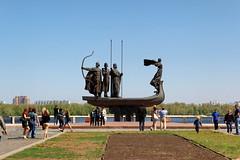 Kiev (Alexxx1979) Tags: city monument spring may ukraine kiev киев город памятник весна май украина 2013 памятникоснователямкиева statueofthefoundersofkiev