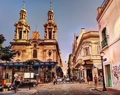 Iglesias de Monserrat - Churches of Monserrat (celta4) Tags: people church argentina buildings buenosaires gente iglesia hdr eificios vision:street=0671 vision:outdoor=097 vision:sky=0664