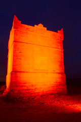 RIVINGTON PIKE (IN RED), RIVINGTON, LANCASHIRE, ENGLAND. (ZACERIN) Tags: red 2 tower paul illuminated rivington pike beacon listed the in red tower building christopher river photography red of douglas red beacon council colour pictures england grade pike rivington tower rivington chorley lancashire chorley rivington zacerin 170314 300314 170314 300314 1733