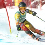 Katrina van Soest racing GS at the Apex Fidelity U16 Can-Am event PHOTO CREDIT: Mark Brett, Photographer, Penticton Western News