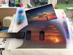 Airbrushing my guitar (colinp_hughes) Tags: art guitar handmade airbrush airbrushart customguitar airbrushedguitar uploaded:by=flickrmobile flickriosapp:filter=nofilter