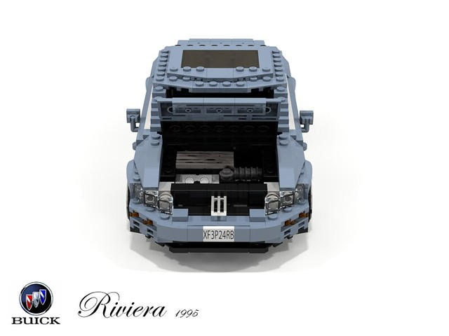 auto usa car america buick model gm riviera lego stuck general render motors 1995 gen luxury coupe challenge 92 1990s 8th 90s cad lugnuts supercharged povray fullsize moc ldd miniland mkviii lego911 personalcoupe stuckinthe90s