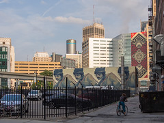 Sanctioned Shepard Fairey (eekim) Tags: streetart art mural detroit photoaday shepardfairey day182 365project